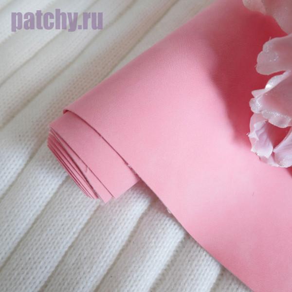Кожзам Soft touch розовый
