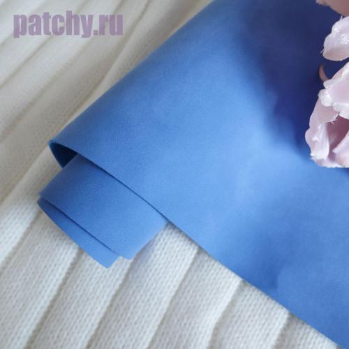Кожзам Soft touch синий