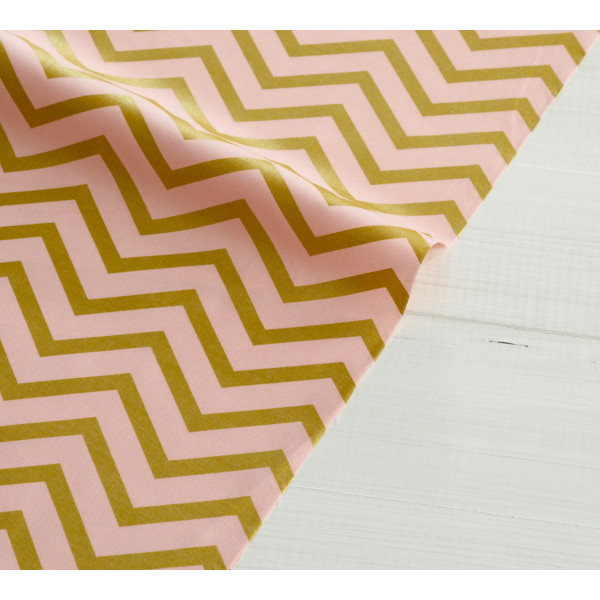 Blush Sleek Chevron Pearlized