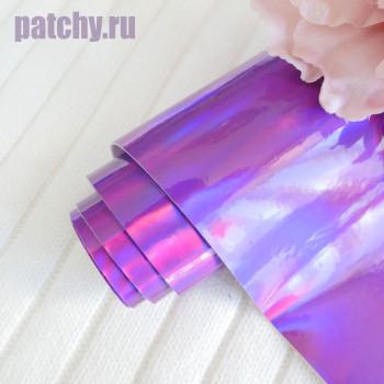 Кожзам ртутный фиолетовый