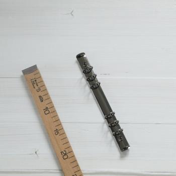 Кольцевой механизм диаметр 3,5см 22см 6 колец A5 черное серебро