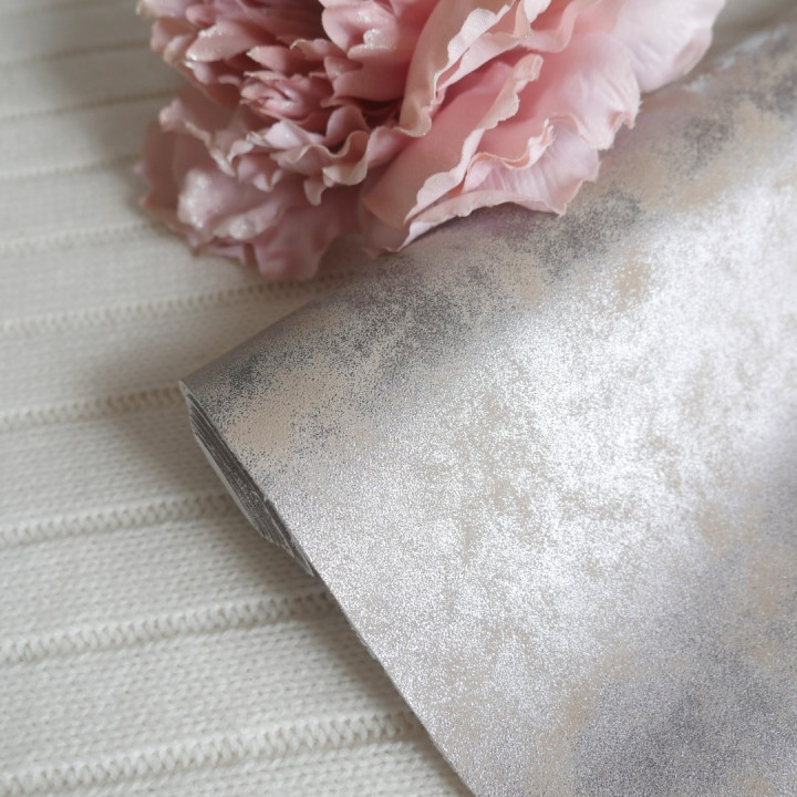 Кожзам морозный узор персик 35 х 70 см