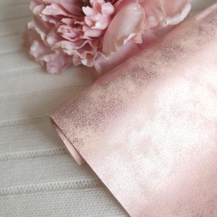 Кожзам морозный узор розовый 25 х 70 см