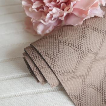 Кожзам коричневый чешуя soft touch