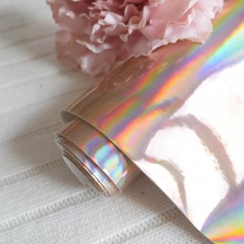 Кожзам ртутный розовое золото