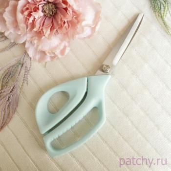 Портновские ножницы 255 мм голубые