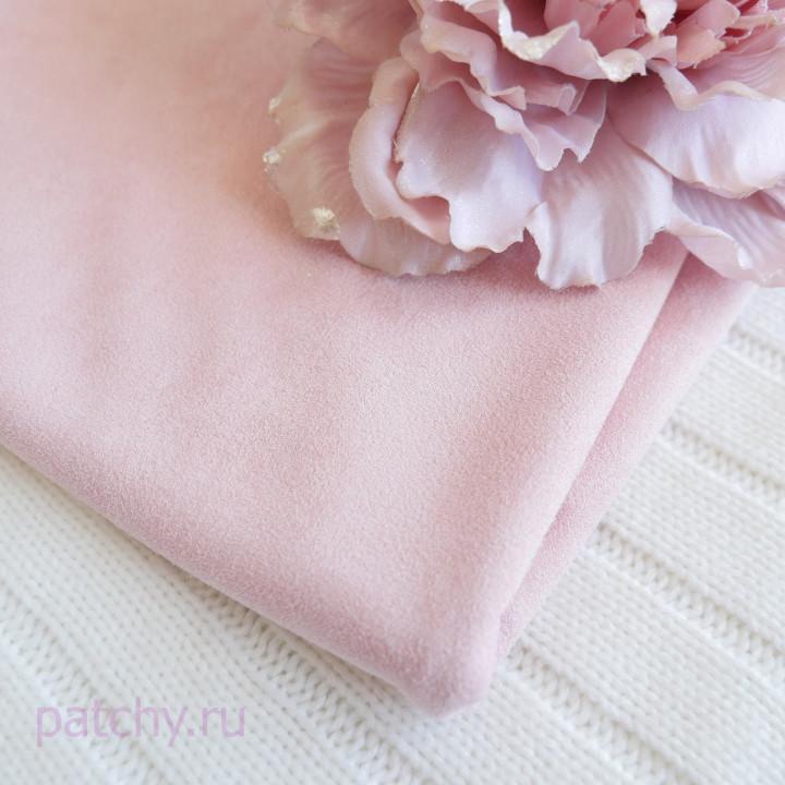 Микрозамша двусторонняя Бледно-розовый 15*70см