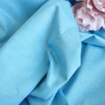Односторонняя замша Ярко-голубой