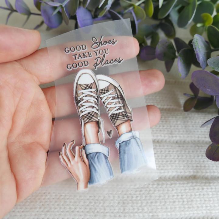 """Термокартинка """"Good shoes take you good places"""" 4,7*8 см"""