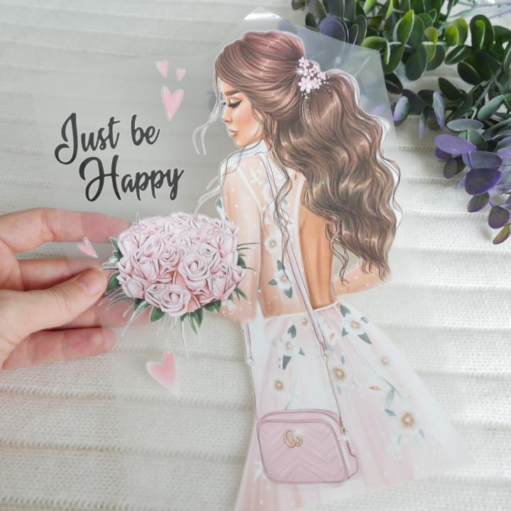"Термокартинка ""Just be happy"" 18*24 см"