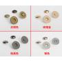 Магнитная кнопка 14 мм античное золото