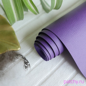 Переплетный кожзам под кожу фиолетовый 28*67см