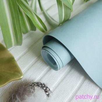 Переплетный кожзам матовый Серо-голубой 26х140см