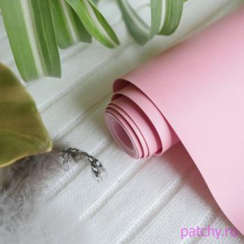 Переплетный кожзам матовый розовый