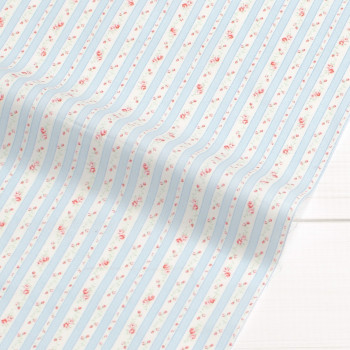 Ткань для пэчворка и скрапбукинга  хлопок Stripe tulip