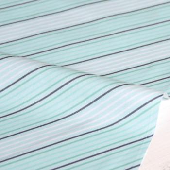 Ткань для пэчворка и скрапбукинга хлопок Little bird blue stripe