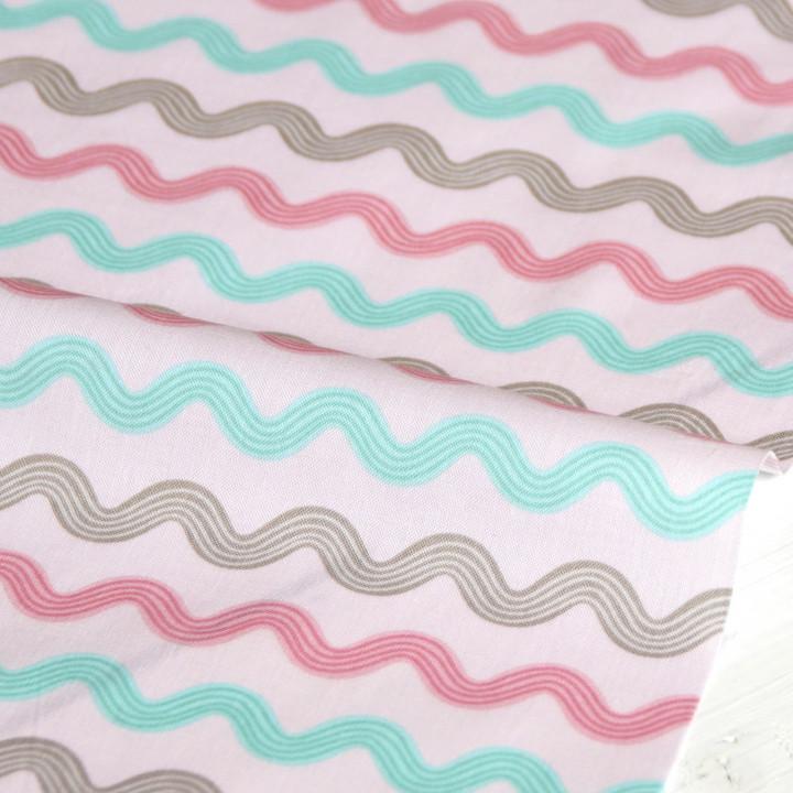 Ткань хлопок Little bird zigzag
