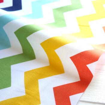 Ткань для пэчворка и скрапбукинга хлопок Multi basic zigzag
