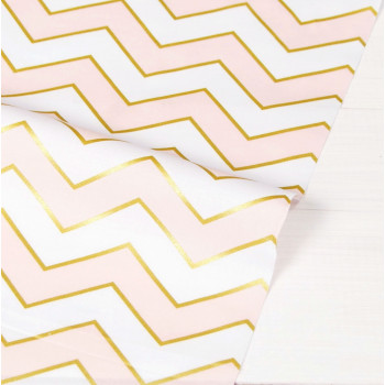 Ткань хлопок Blush Chic Chevron Pearlized (Светло-Розовый)