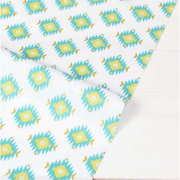 Ткань хлопок Glitz Garden: Glitzy Diamond Aqua