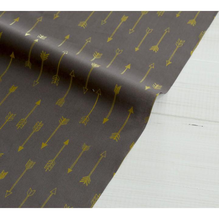 Ткань хлопок Arrows brown