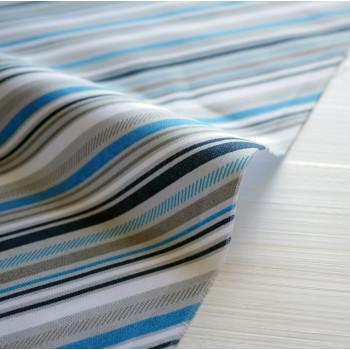 Ткань для пэчворка и скрапбукинга хлопок Play Ball 2 Blue Stripe