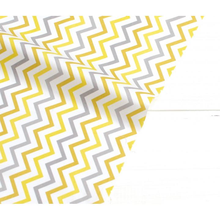 Ткань хлопок Yellow Stripe