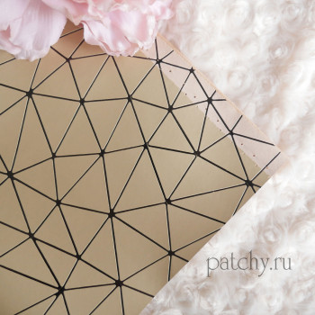 Кожзам геометрия золотой