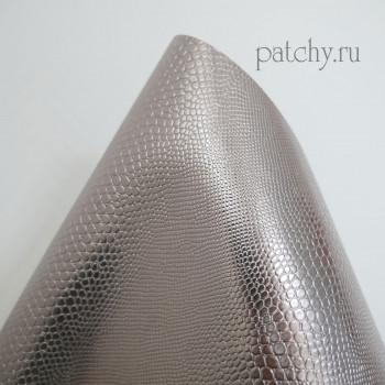 Кожзам металл змея шоколад