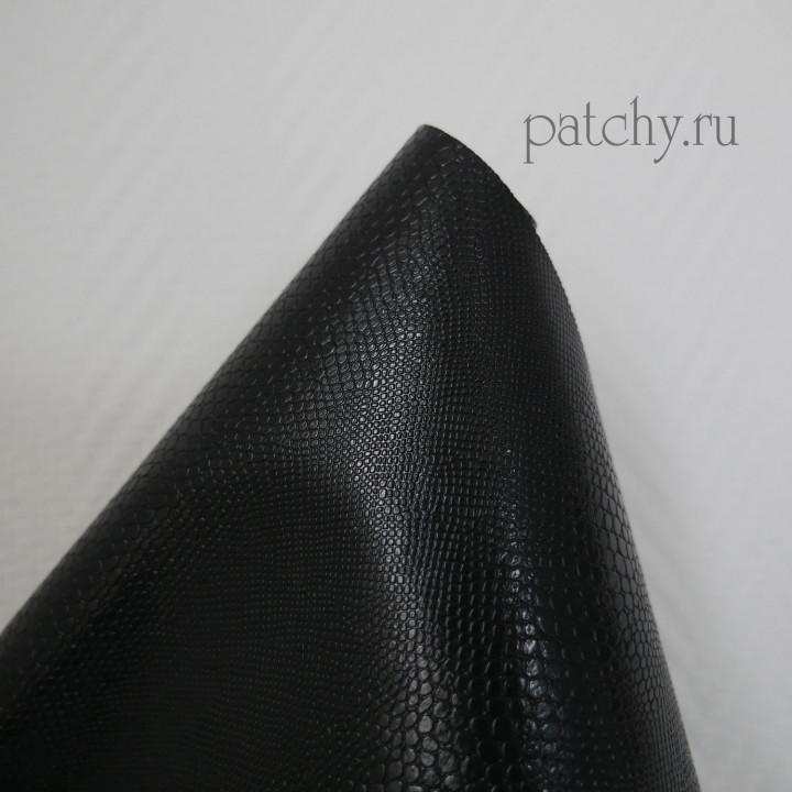 Кожзам металл змея черный 30 х 70 см