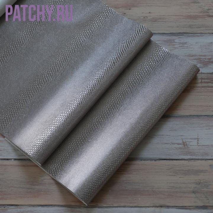 Кожзам металл змея бронза 30 х 70 см