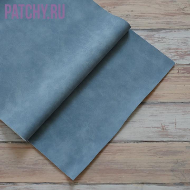 Искусственная замша темно синяя 35 х 70 см