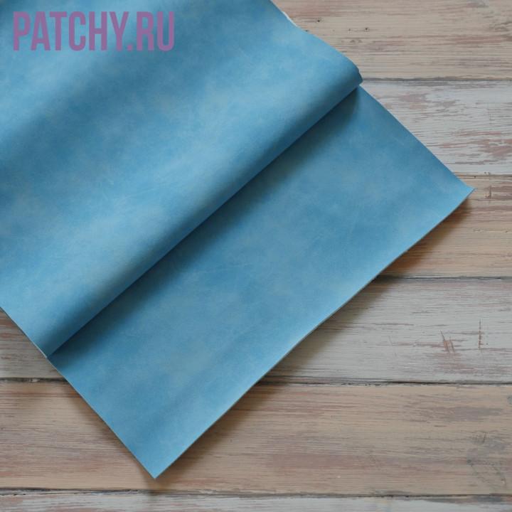 Искусственная замша небесно голубая 25 х 70 см