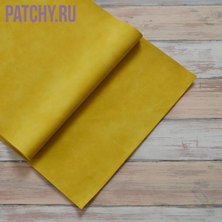 Искусственная замша желтая 25 х 70 см