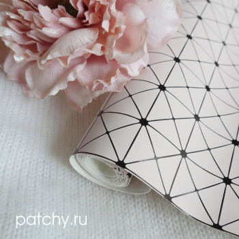 Кожзам геометрия светло-розовый