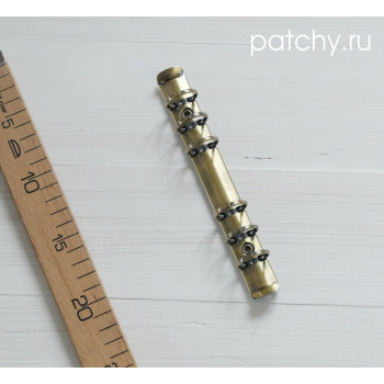 (без болтов) Кольцевой механизм 18см 6 колец A6 состаренное золото