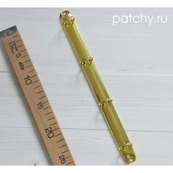 Кольцевой механизм 29см 4 кольца A4 золотой, диаметр 3 см