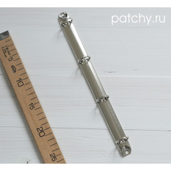 Кольцевой механизм 29см 4 кольца A4 серебро, диаметр 3 см