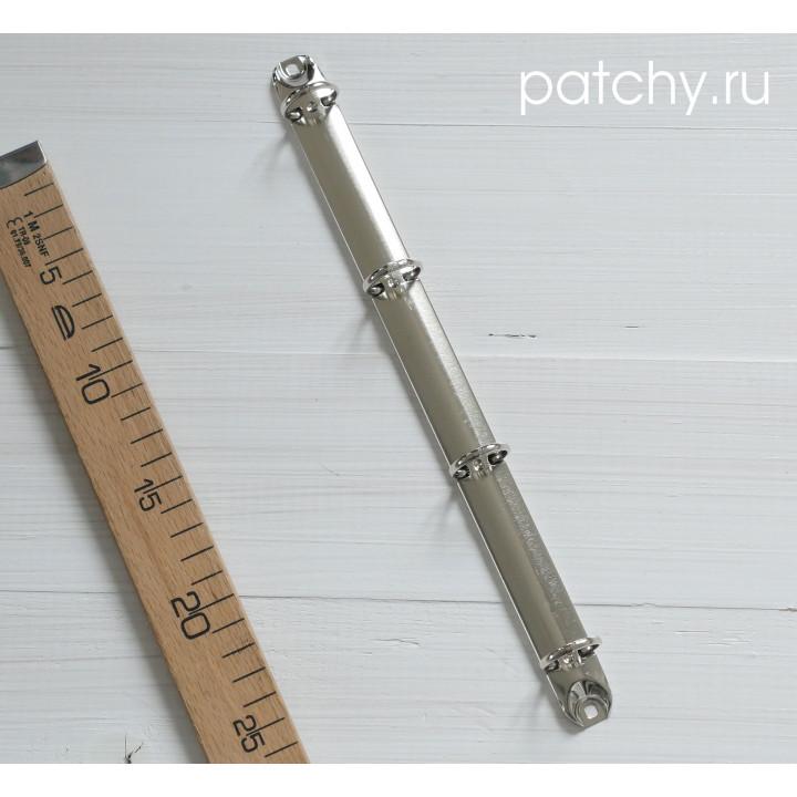 (Без болтов) Кольцевой механизм 29см 4 кольца A4 серебро.диаметр 3,5см