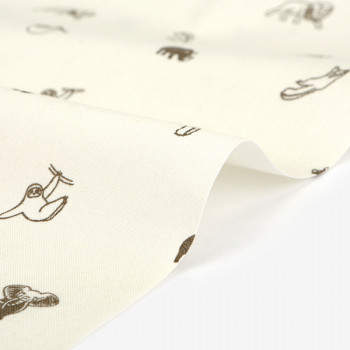 Ткань хлопок 487 Sloth  buddy(C20)