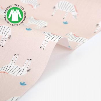 Ткань хлопок 476 Organic cotton  zebra