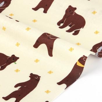 Ткань для пэчворка и скрапбукинга  171 Through the forest - grizzly