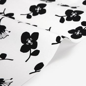 Ткань для пэчворка и скрапбукинга оксфорд 400 Stamp flower