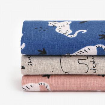 Набор тканей для скрапбукинга лен Dailylike 114 doodling