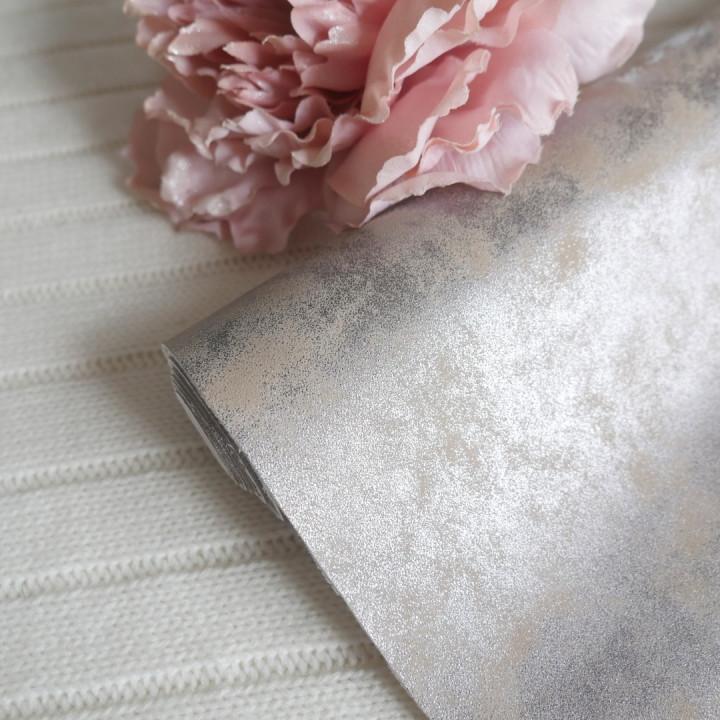 Кожзам морозный узор персик 15*110 см