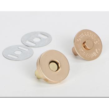 Магнитная кнопка 10мм розовое золото.ширина 1,5мм