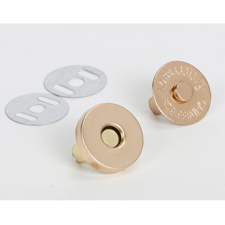 Магнитная кнопка 14 мм розовое золото.ширина 3мм