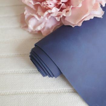 Кожзам Soft touch темно-синий 24*73 см