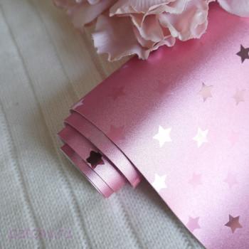 Кожзам звезды розово-золотой