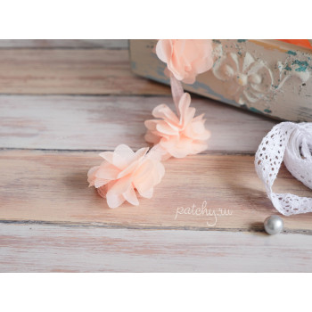 Шифоновый цветочек (персиковый)